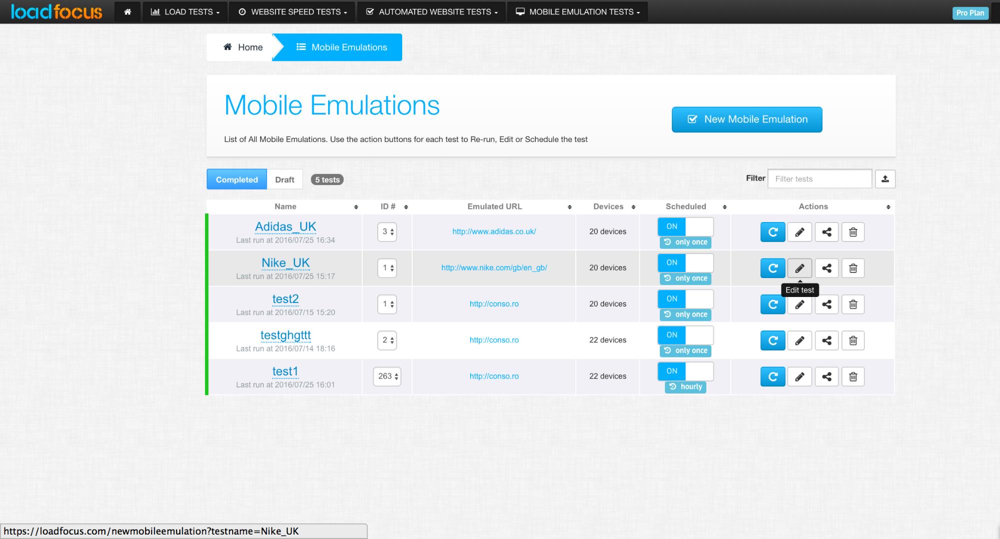 mobile-emulation-schedule-list
